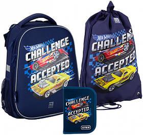 Рюкзак укомплектованный Kite Education Hot Wheels 38х29х16 см 16 л Синий (SET_HW20-531M)