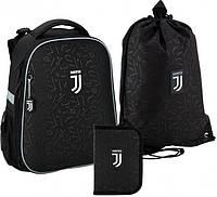 Рюкзак укомплектованный Kite Education FC Juventus 38х29х16 см 16 л Черный (SET_JV20-531M)