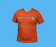 Футболка BIKKEMBERGS.Оранжевая. Размер - М  L Х  ХХL