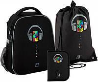 Рюкзак укомплектованный Kite Education Playaround 38х29х16 см 34 л Черный (SET_K20-531M-1)