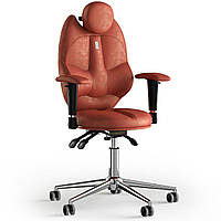 Кресло KULIK SYSTEM TRIO Антара с подголовником без строчки Морковный 14-901-BS-MC-0309, КОД: 1668738