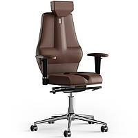 Кресло KULIK SYSTEM NANO Кожа с подголовником без строчки Виски 16-901-BS-MC-0106, КОД: 1668760