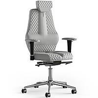 Кресло KULIK SYSTEM NANO Экокожа с подголовником со строчкой Белый 16-901-WS-MC-0202, КОД: 1668804