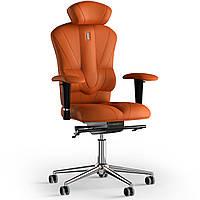 Кресло KULIK SYSTEM VICTORY Экокожа с подголовником без строчки Оранжевый 8-901-BS-MC-0210, КОД: 1668936