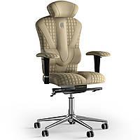 Кресло KULIK SYSTEM VICTORY Экокожа с подголовником со строчкой Песочный 8-901-WS-MC-0212, КОД: 1668995
