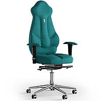 Кресло KULIK SYSTEM IMPERIAL Ткань с подголовником без строчки Аквамарин 7-901-BS-MC-0512, КОД: 1685911