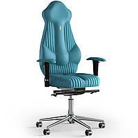 Кресло KULIK SYSTEM IMPERIAL Антара с подголовником со строчкой Аквамарин 7-901-WS-MC-0305, КОД: 1685933
