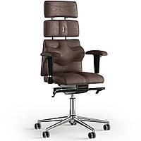 Кресло KULIK SYSTEM PYRAMID Антара с подголовником без строчки Каштановый 9-901-BS-MC-0307, КОД: 1685977