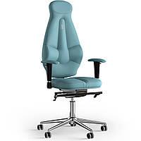 Кресло KULIK SYSTEM GALAXY Экокожа с подголовником без строчки Синий 11-901-BS-MC-0209, КОД: 1689511