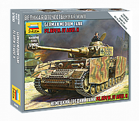 "Сборная модель ""Немецкий средний танк Т-IV Н "" (масштаб: 1/100) Zvezda (6240), фото 1"