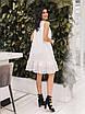 Белое летнее расклешенное Платье, фото 3