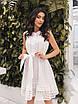 Белое летнее расклешенное Платье, фото 2