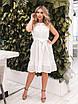Белое летнее расклешенное Платье, фото 5