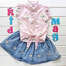 """Летний костюм для девочки """"Ромашечка"""" на 2, 3, 4 и 5 лет"""