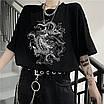 Женский эко-кожаный ремень с двойной цепочкой люверсами дырками заклепками унисекс, фото 4