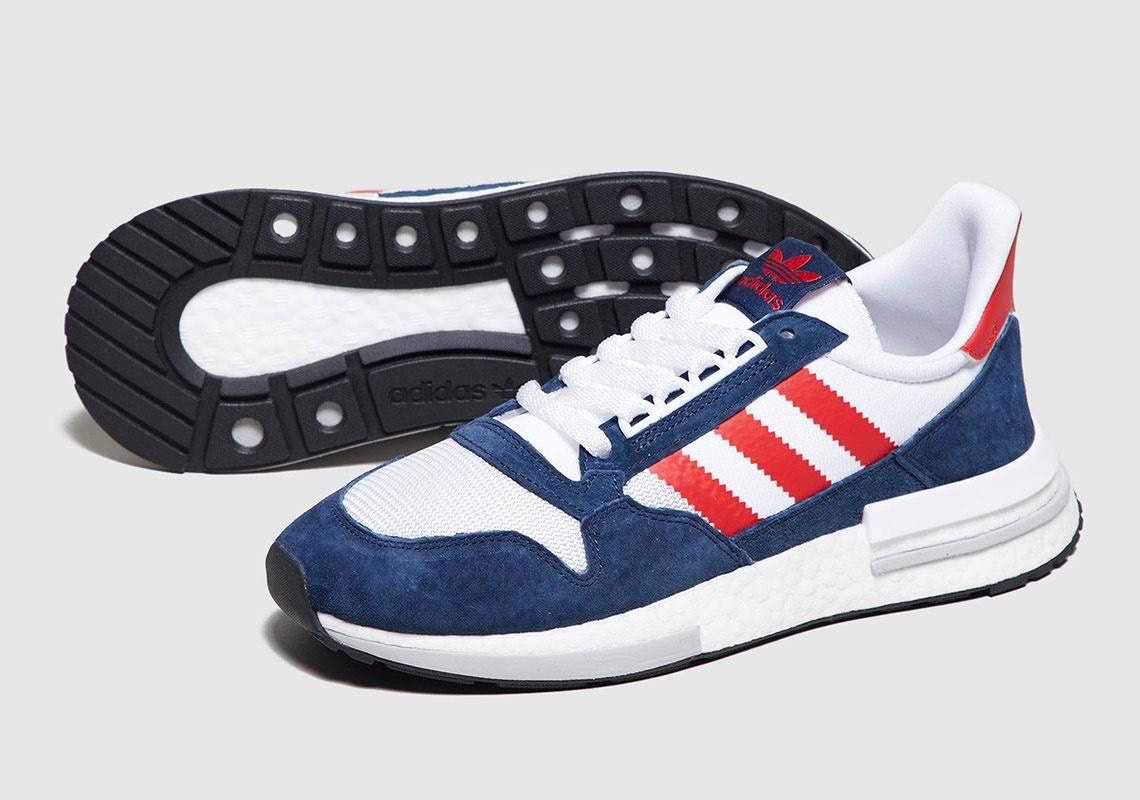 """ADIDAS ZX 500 """"Blue-Red"""""""