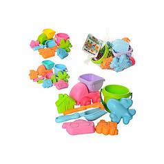 Детский силиконовый игровой набор для песочницы (пасочки) с машинкой Metr+ 858-5