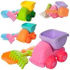 Детский силиконовый игровой мягкий набор для песочницы (пасочки) Metr+ 858-4