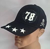 Бейсболка из джинсовой ткани 9189/1.12 Ph Pl 78 звезды синий, 58 размер Ellipse