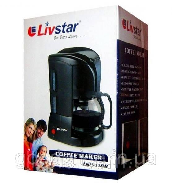 Кофеварка LIVSTAR 850 Вт электрическая капельная кофеварка