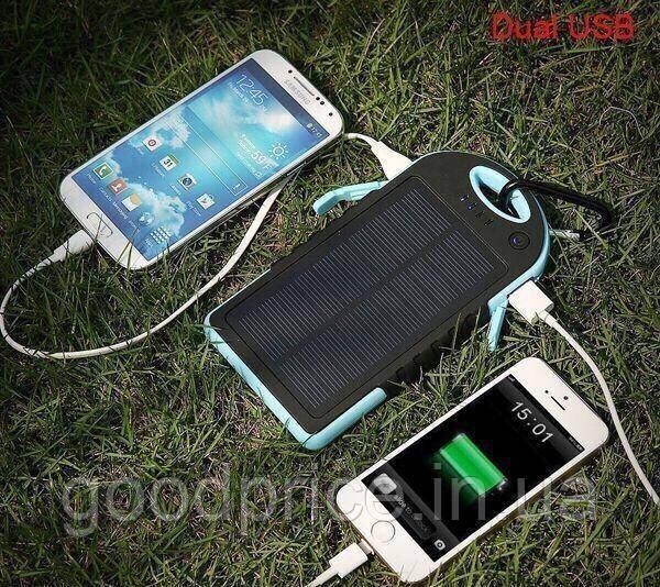 Power Bank Повер банк + мощный фонарь+зарядка от солнца