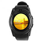 Умные смарт часы Smart Watch V8 черные, электронные наручные часы, спорт часы, фитнес часы, фото 6