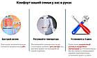 Мгновенный проточный кран водонагреватель электрический кран бойлер нижнее подключение, фото 9