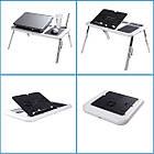 Столик подставка для ноутбука с кулером E-Table раскладной складной столик для планшета с охлаждением, фото 4