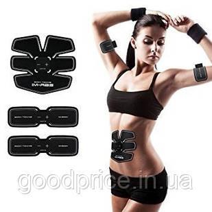 Тренажер для пресса, миостимулятор, EMS Trainer PRO 3в1 с бабочками на мышцы рук