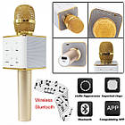 Беспроводной Караоке Микрофон Bluetooth Q7 в ЧЕХЛЕ, фото 5