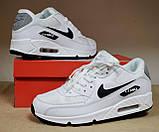 Кросівки чоловічі NIKE AIR MAX 90 білі М0159, фото 3