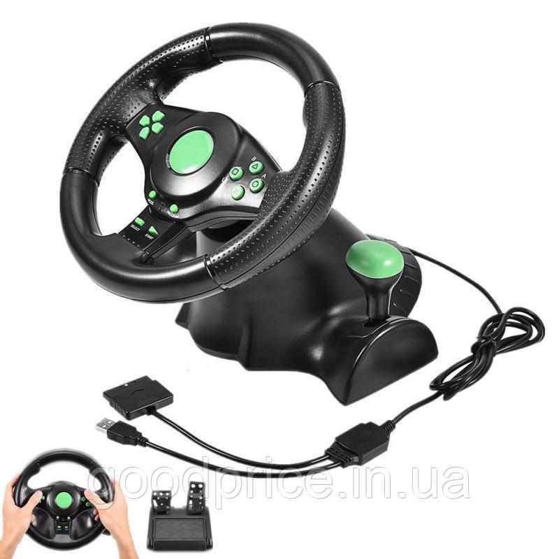 РУЛЬ ИГРОВОЙ руль 3в1 PS2/PS3/PC USB компьютер