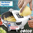 Многофункциональная вращающаяся терка-овощерезка с контейнером Basket Vegetable Cutter, Мультислайсер шинковка, фото 3
