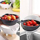 Многофункциональная вращающаяся терка-овощерезка с контейнером Basket Vegetable Cutter, Мультислайсер шинковка, фото 5