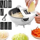 Многофункциональная вращающаяся терка-овощерезка с контейнером Basket Vegetable Cutter, Мультислайсер шинковка, фото 7