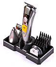 Аккумуляторная машинка для стрижки волос и бороды 7 в 1 Kemei KM 580-A, триммер для бороды, усов, ушей, фото 2