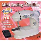 Портативная мини швейная машинка 4 в 1—12 функций mini Sewing Machine с адаптером 220 и педалью, фото 3