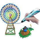 3D-ручка для рисования с LCD дисплеем Smart 3D pen-2 голубая (синяя), 3Д-ручка с экраном второго поколения, фото 3