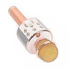 Беспроводной Bluetooth микрофон с динамиком для караоке Wster WS, портативный блютус караоке микрофон, фото 4