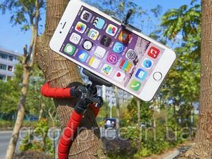 Универсальный гибкий Штатив-Тренога трипод для смартфона, монокуляра