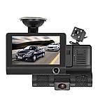 Автомобильный видеорегистратор на 3 камеры Recorder 4 Full HD обзор 170° ночное видения, авто регистратор, фото 2
