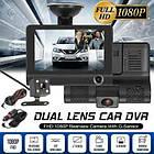 Автомобильный видеорегистратор на 3 камеры Recorder 4 Full HD обзор 170° ночное видения, авто регистратор, фото 4