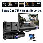 Автомобильный видеорегистратор на 3 камеры Recorder 4 Full HD обзор 170° ночное видения, авто регистратор, фото 5
