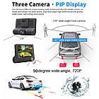 Автомобильный видеорегистратор на 3 камеры Recorder 4 Full HD обзор 170° ночное видения, авто регистратор, фото 7