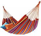 Мексиканский цветной хлопковый гамак 200*80 в чехле, фото 2