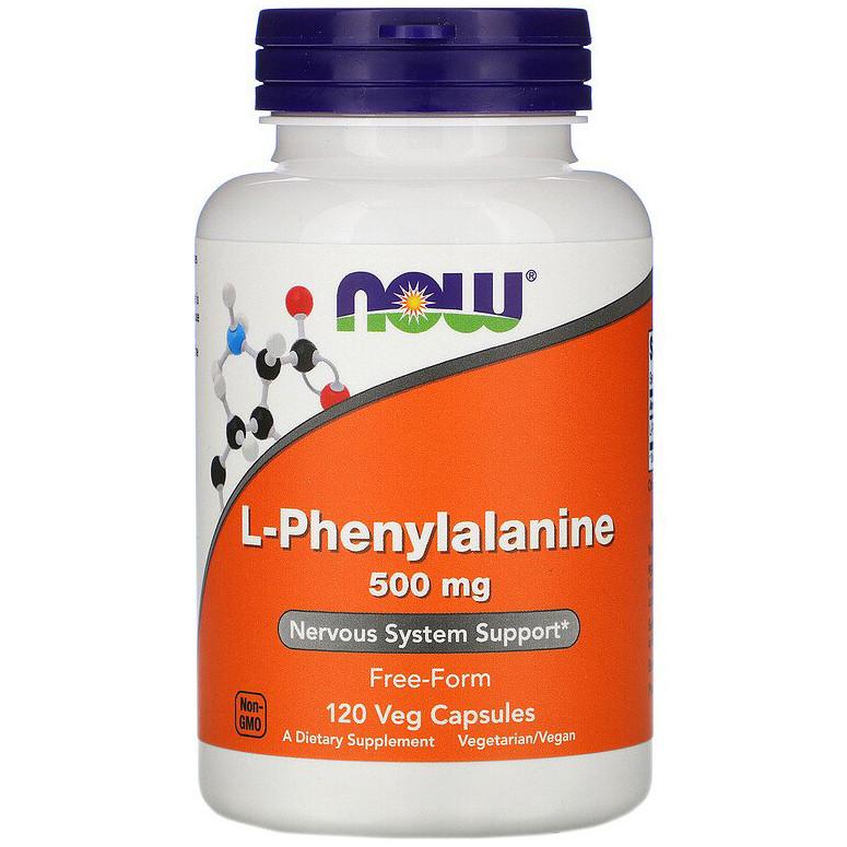 """L-Фенилаланин NOW Foods """"L-Phenylalanine"""" поддержка нервной системы, 500 мг (120 капсул)"""