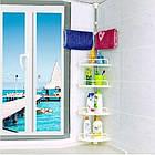 Угловая полка для ванной комнаты Multi Corner Shelf Стойка Стелаж, фото 4