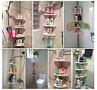 Угловая полка для ванной комнаты Multi Corner Shelf Стойка Стелаж, фото 7