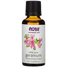 """Эфирное масло герани NOW Foods """"Geranium"""" (30 мл)"""