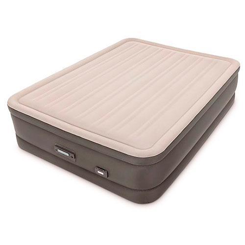 Надувная кровать велюр Intex (64770) 203-152-46см